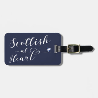 Scottish At Heart Luggage Tag