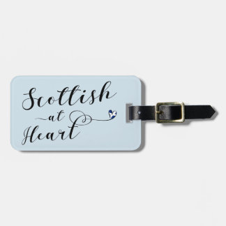 Scottish At Heart Luggage Tag Template, Scotland