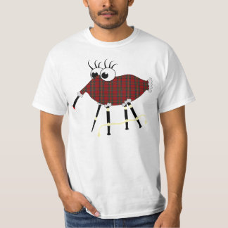 Scottish Bagpipe Animal Humorous Vector T-Shirt