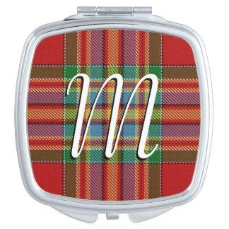 Scottish Beauty Clan Chattan Tartan Plaid Travel Mirror