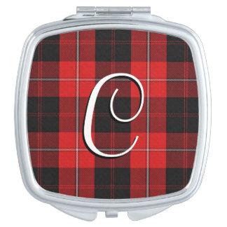 Scottish Beauty Clan Cunningham Tartan Plaid Compact Mirror