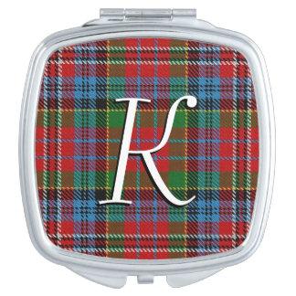 Scottish Beauty Clan Kidd Tartan Plaid Mirrors For Makeup