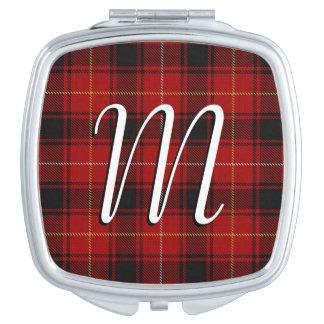 Scottish Beauty Clan MacIver Tartan Plaid Compact Mirrors