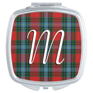 Scottish Beauty Clan MacLea Tartan Plaid Mirror For Makeup