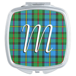 Scottish Beauty Clan MacLeod of Harris Tartan Travel Mirror