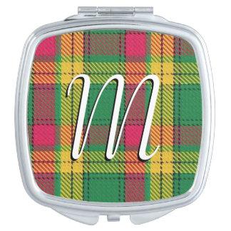 Scottish Beauty Clan MacMillan Tartan Plaid Compact Mirror