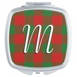 Scottish Beauty Clan Moncreiffe Tartan Plaid Travel Mirror