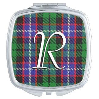 Scottish Beauty Clan Russell Tartan Plaid Travel Mirror