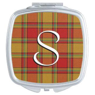 Scottish Beauty Clan Scrymgeour Tartan Plaid Mirror For Makeup