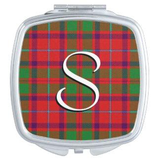 Scottish Beauty Clan Shaw Tartan Plaid Travel Mirror