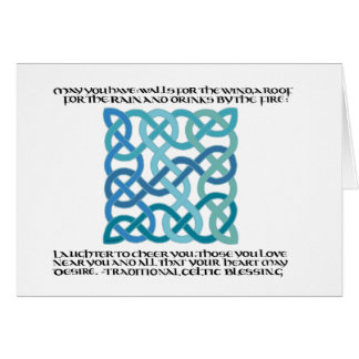 Scottish Blessing Calligraphy with Celtic Knot Card