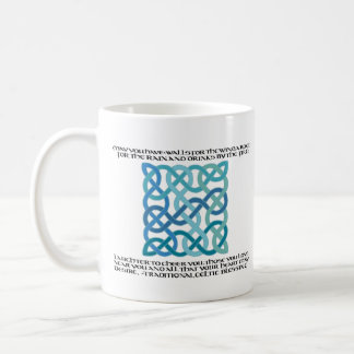 Scottish Blessing Calligraphy with Celtic Knot Coffee Mug