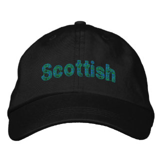 Scottish Blue Green Tartan Cap