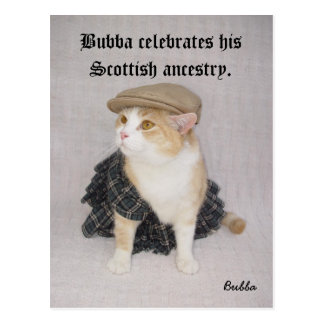 Scottish Bubba Postcard