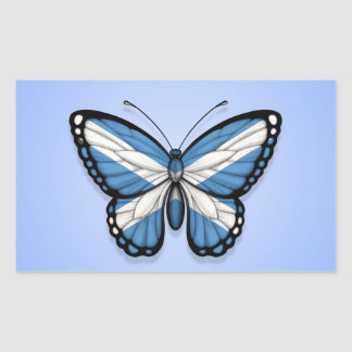 Scottish Butterfly Flag on Blue