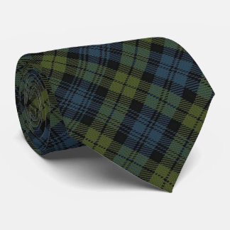 Scottish Campbell C Monogram Tartan Tie