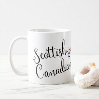 Scottish Canadian Entwined Hearts Mug