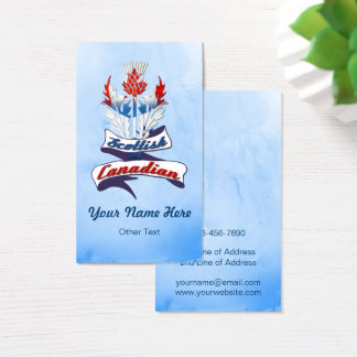 Scottish Canadian Thistle Business Card Template
