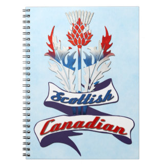 Scottish Canadian Thistle Notepad Notebook