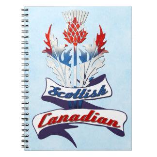 Scottish Canadian Thistle Notepad Notebooks