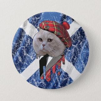 Scottish cat 3 inch round button