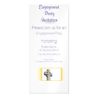 Scottish, Celtic Cross Engagement Party Magnetic Card