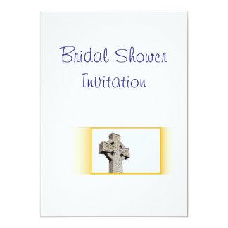 Scottish, Celtic Cross Wedding Theme Bridal Shower Card