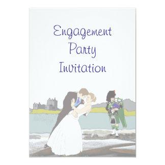 Scottish, Celtic Engagement Party Card