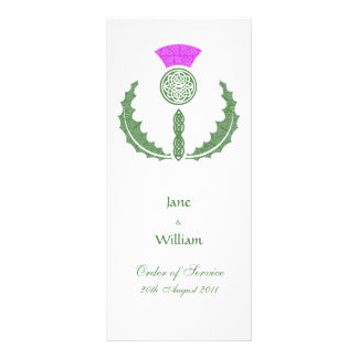 Scottish Celtic Thistle Order of Service Card