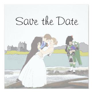 Scottish, Celtic Wedding Theme Save the Date Card