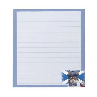 Scottish Chihuahua  dog notepad