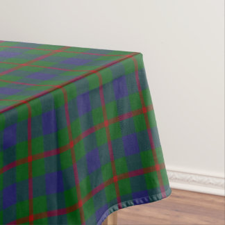 Scottish Clan Agnew Red Green Blue Tartan Tablecloth