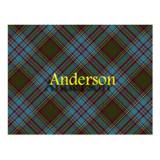 Scottish Clan Anderson Tartan Postcard
