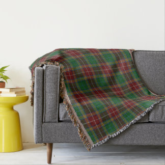 Scottish Clan Baxter Tartan Throw Blanket