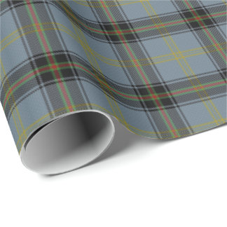 Scottish Clan Bell Tartan Wrapping Paper