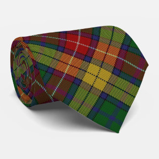 Scottish Clan Buchanan B Monogram Tartan Tie