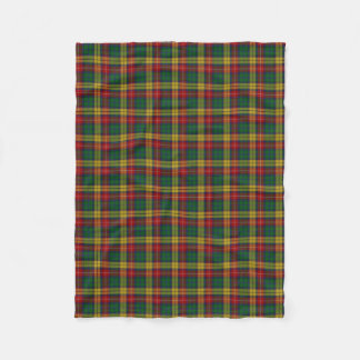 Scottish Clan Buchanan Classic Tartan Fleece Blanket