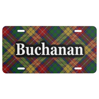 Scottish Clan Buchanan Tartan Celebration License Plate