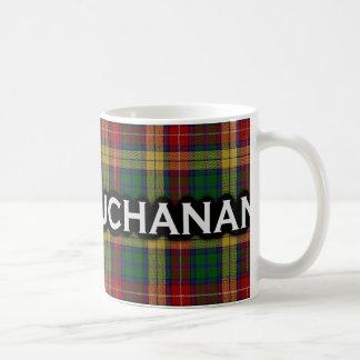 Scottish Clan Buchanan Tartan Classic White Coffee Mug