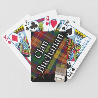 Scottish Clan Buchanan Tartan Paint Brush Poker Cards