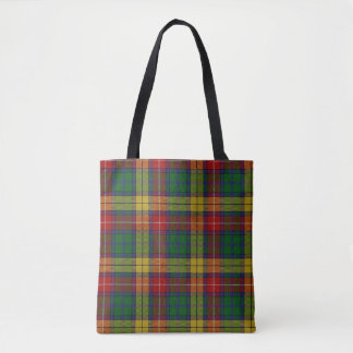 Scottish Clan Buchanan Tartan Plaid Tote Bag