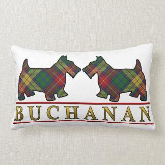 Scottish Clan Buchanan Tartan Scottie Dogs Pillow