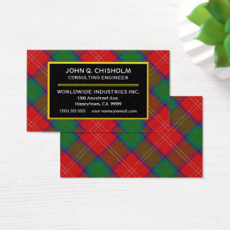 Scottish Clan Chisholm Tartan Plaid Business Card