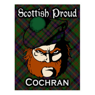 Scottish Clan Cochran Tartan Postcard
