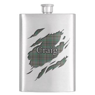 Scottish Clan Craig Tartan Flask