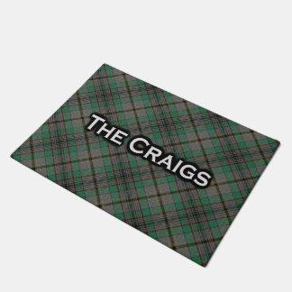 Scottish Clan Craig Tartan Welcome Mat