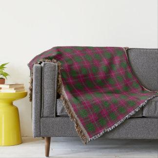 Scottish Clan Crawford Tartan Throw Blanket