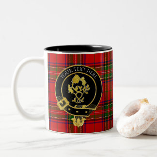 Scottish Clan Crest Rose Thistle Two-Tone Coffee Mug