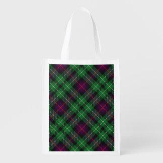 Scottish Clan Cunningham Family Tartan Grocery Bags