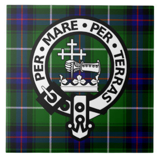 Scottish Clan Donald Tartan and Crest Tile